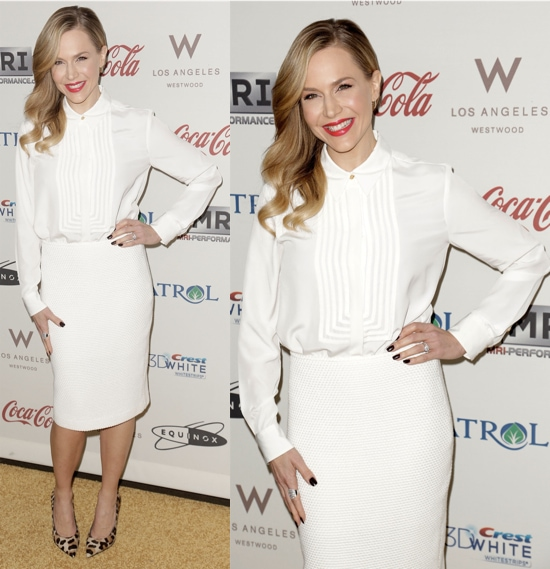 "Julie Benz at the ""Gold Meets Golden"" event at The Lounge at Equinox in West Los Angeles, California on January 12, 2013"