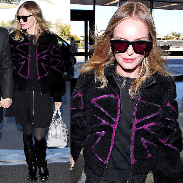 Kate Bosworth takes airport style to a whole nother fashion-forward level
