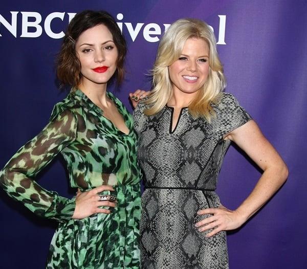 Katharine McPhee and Megan Hilty at NBC Universal's 2013 Winter TCA Tour Day 1