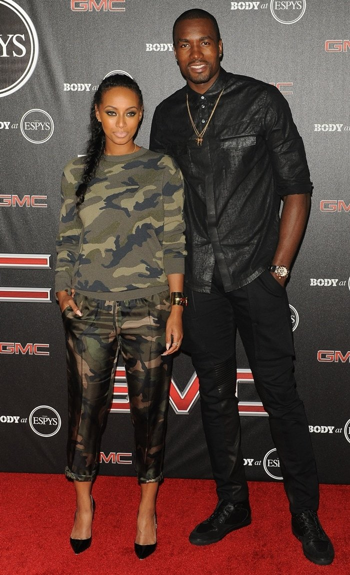 Keri Hilson and basketball player Serge Ibaka arrive at the BODY at ESPYS Pre-Party