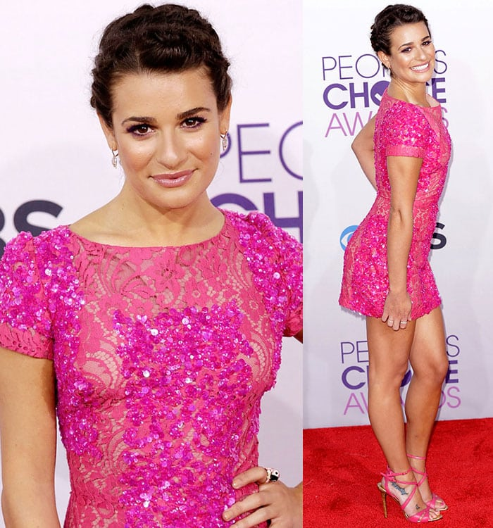 Lea Michele at the 39th Annual People's Choice Awards at Nokia Theatre L.A. Live in Los Angeles on January 8, 2013
