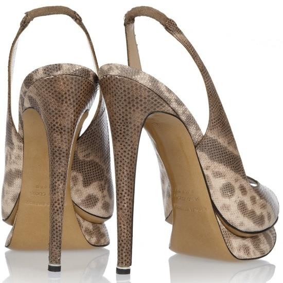 Lizard-effect leather pumps  Original price $895 NOW $358 Heel