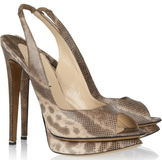 Lizard-effect leather pumps  Original price $895 NOW $358
