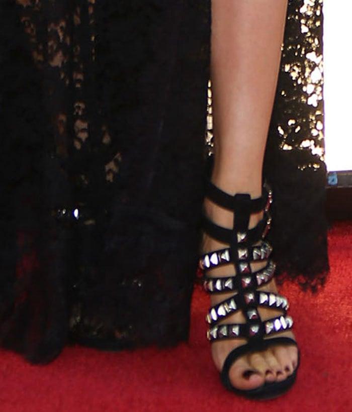 Louise-Roe-Jimmy-Choo-studded-sandals