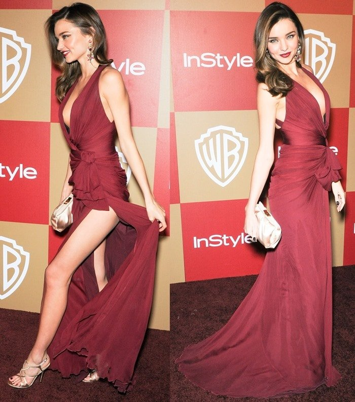 Miranda Kerr at the InStyle And Warner Bros. Golden Globe After Party
