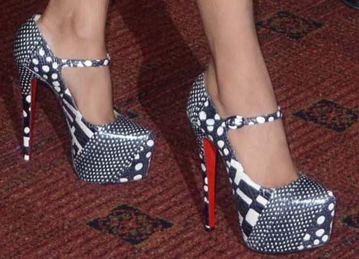 Nicki Minaj wearing Christian Louboutin 'Lady Daf' heels