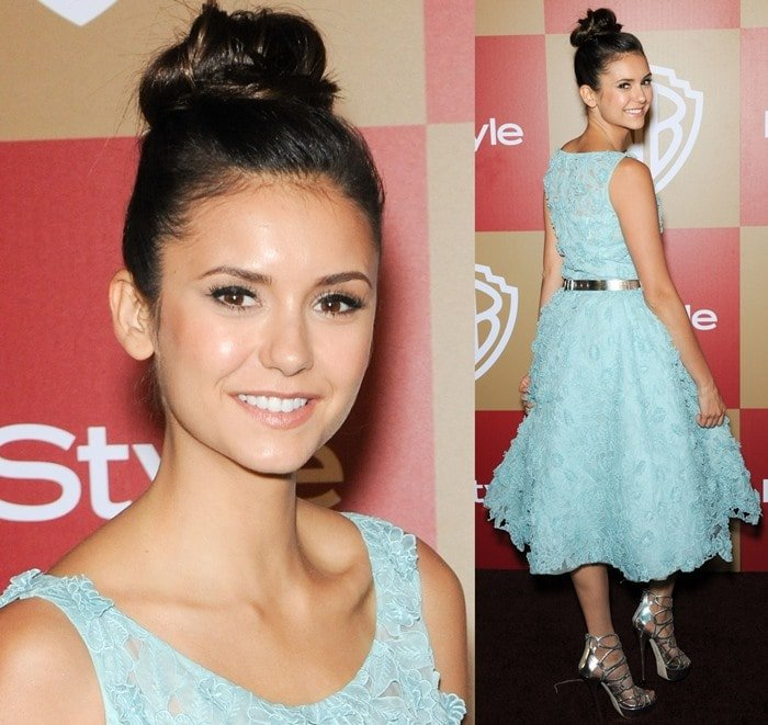 Nina Dobrev at the InStyle And Warner Bros. Golden Globe After Party