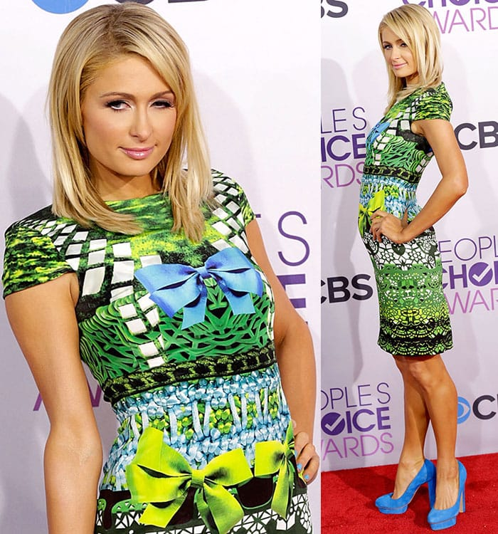 Paris Hilton the 39th Annual People's Choice Awards at Nokia Theatre L.A. Live in Los Angeles on January 8, 2013