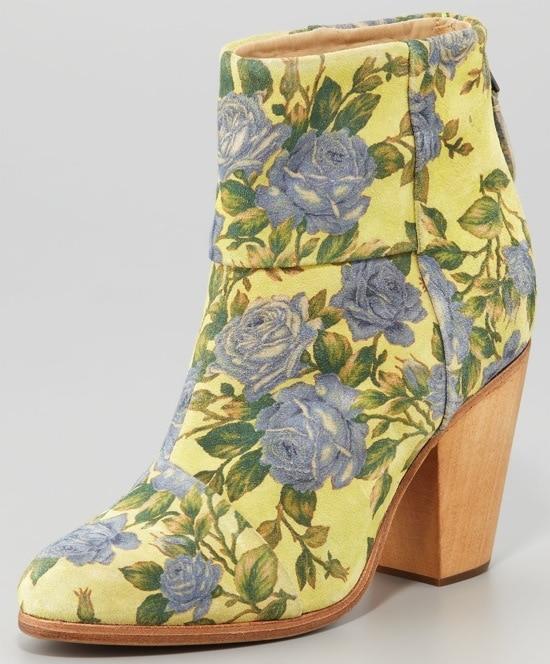 Rag & Bone Classic Newbury Floral Booties