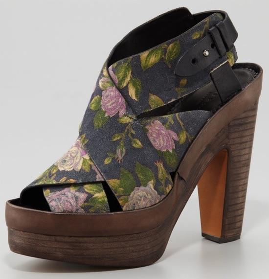 Rag & Bone Sloane Floral Platform Sandals