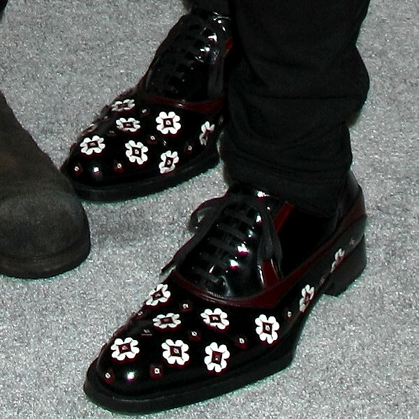 Randy Jackson Prada flower oxfords