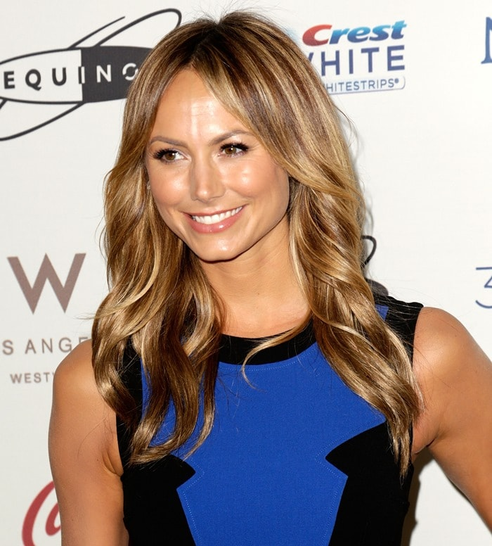 "Stacy Keibler at the ""Gold Meets Golden"" event at The Lounge at Equinox in West Los Angeles, California on January 12, 2013"