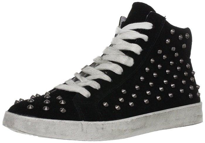 Steve Madden Twynkle Distressed Studded Sneaker