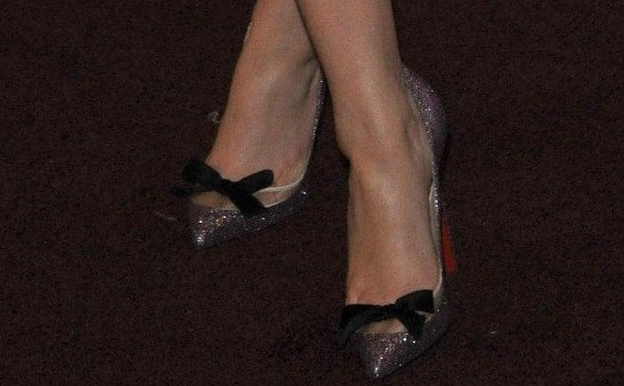 Teresa Palmer wearing Christian Louboutin pumps