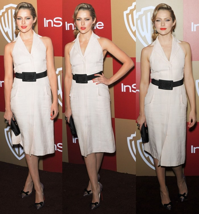 Teresa Palmer at the InStyle And Warner Bros. Golden Globe After Party