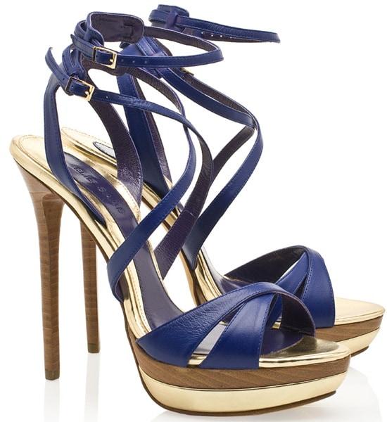 Elie Saab Multistrap Sandals in Blue