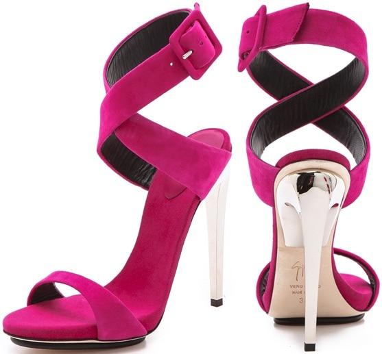 giuseppe zanotti metal heel sandals