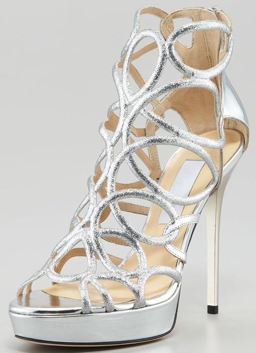 jimmy choo brazil glitter sandals