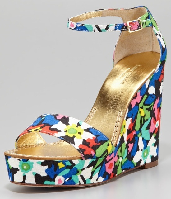 Kate Spade New York Dabney Floral Fabric Wedge Sandals