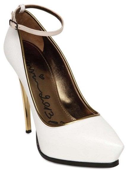 lanvin mirror heel ankle strap pumps2
