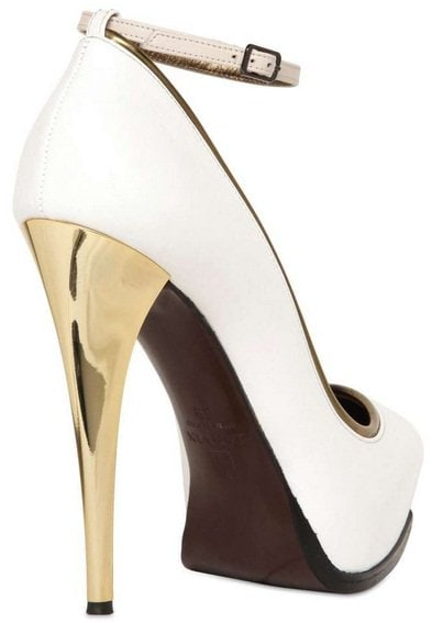 lanvin mirror heel ankle strap pumps3