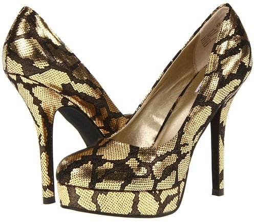 Not Rated 'First Prize' Pumps in Gold