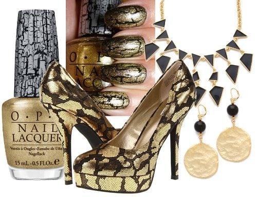 Earrings: Kenneth Jay Lane Satin Gold Coin Drop Earring and Kenneth Jay Lane Enamel Geo Drop Necklace