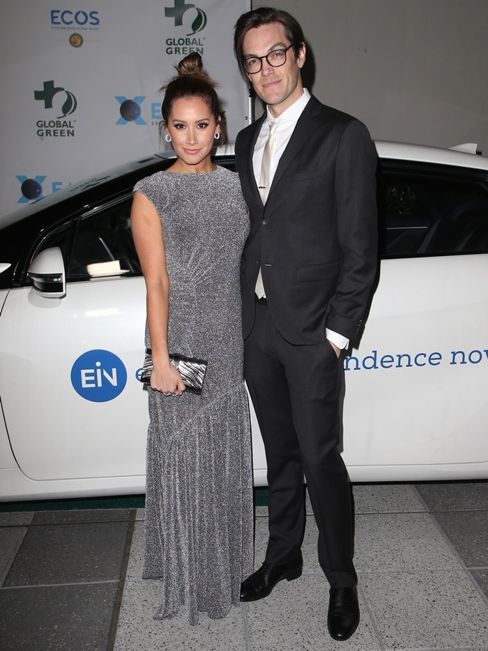 Actress Ashley Tisdale and Christopher French