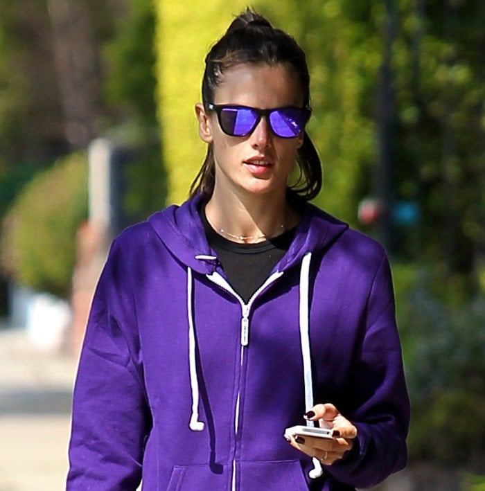 Alessandra Ambrosio and family go for a stroll