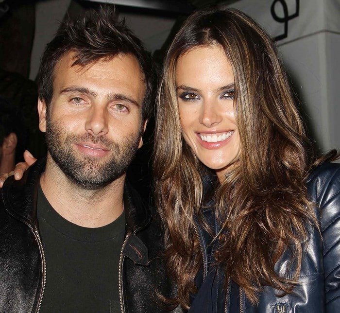 Alessandra Ambrosio and Jamie Mazur at the 55th Annual Grammy Awards