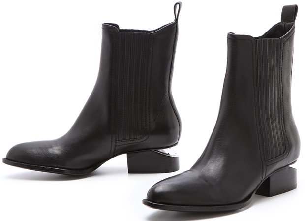 Alexander Wang 'Anouck' Chelsea Booties with Nickel Hardware
