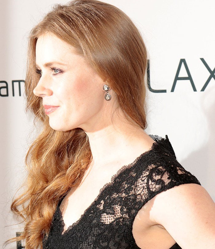 Amy Adams in a sexy black dress at The Hollywood Reporter Nominees' Night