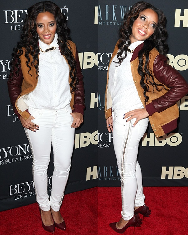 Angela Simmons attends the Beyonce: Life Is But a Dream New York premiere