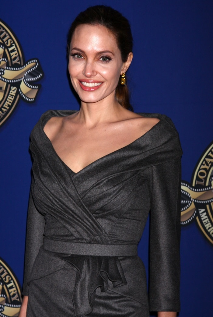 Actress Angelina Jolie attends The American Society of Cinematographers 27th Annual Outstanding Achievement Awards
