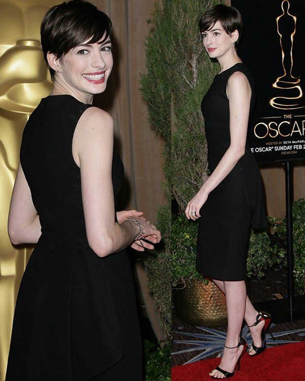 Anne Hathaway at the 85th Academy Awards Nominees Luncheon held at Beverly Hilton Hotel on February 4, 2013