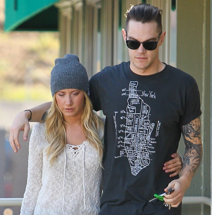 Ashley Tisdale and Christopher French started dating after meeting through friends