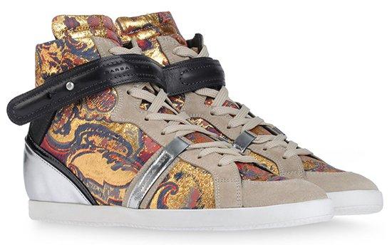 Barbara Bui Printed High Top Sneakers