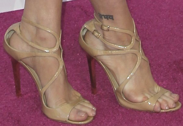 Brittany Snow's sexy feet in Jimmy Choo sandals