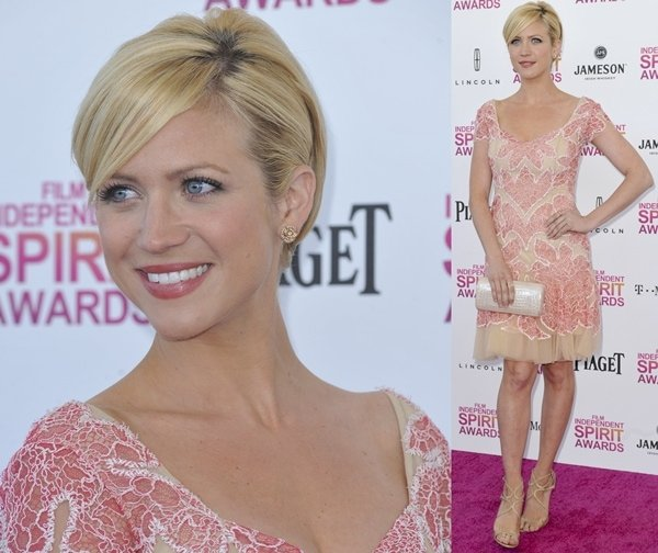 Actress Brittany Snow attends the 2013 Film Independent Spirit Awards at Santa Monica Beach in Santa Monica, California, on February 23, 2013