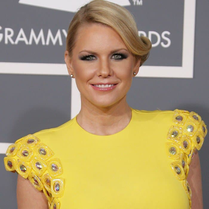 Carrie Keagan at the 55th Annual Grammy Awards in Los Angeles, California on February 10, 2013
