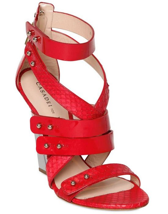 Casadei for Prabal Gurung Ayers Wedge in Red2