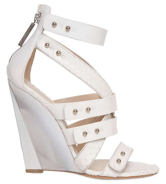 Casadei for Prabal Gurung Ayers Wedge in White