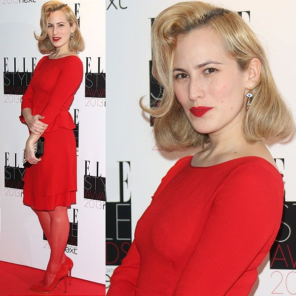 Fashion designer Charlotte Olympia Dellal attends the Elle Style Awards