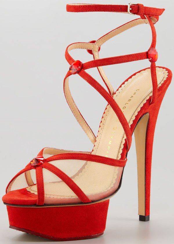 Charlotte Olympia Isadora Strappy Platform Sandals
