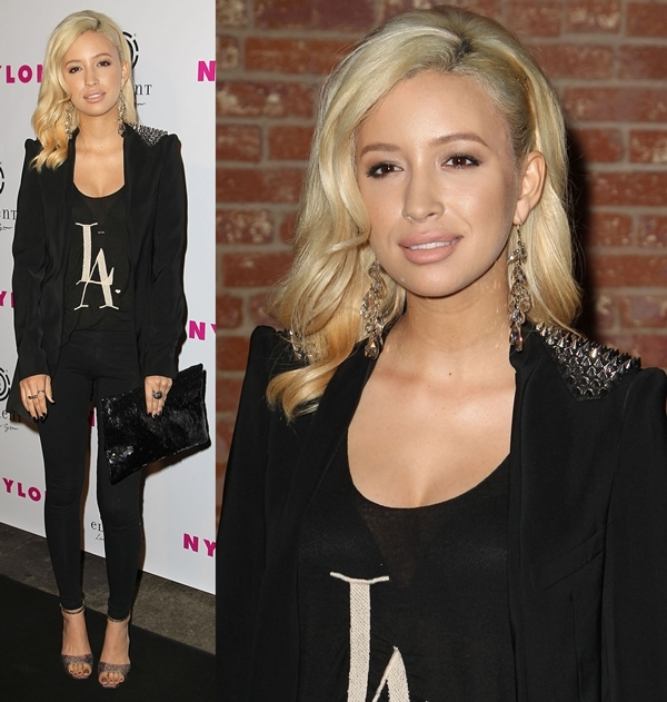 Christian Serratos at the NYLON Magazine August Issue Launch Party in Hollywood