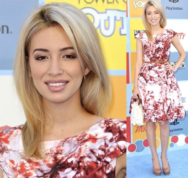 Christian Serratos wears a pretty floral dress at Variety's Power of Youth