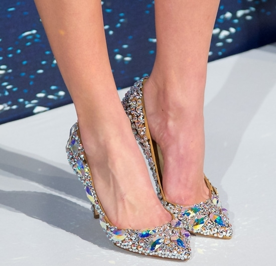 Icy, embellished pumps bling up Clover Canyon's Russian-inspired collection