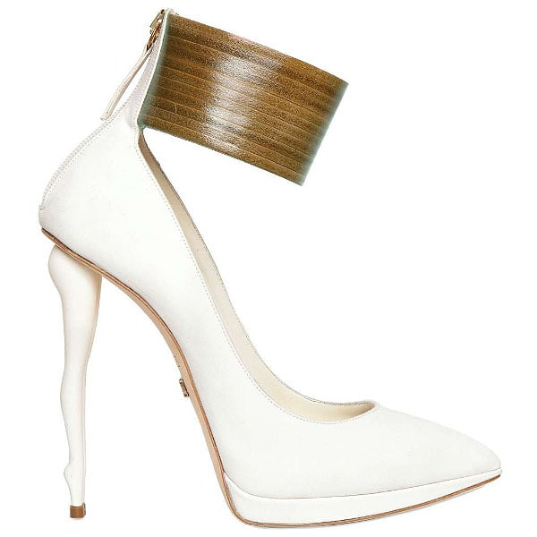Dukas ankle strap doll heel pumps
