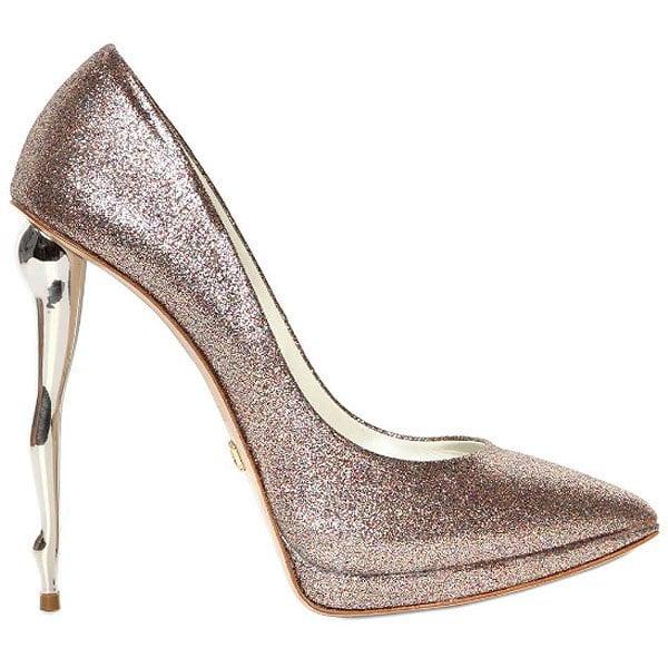 Dukas glitter doll heel pumps