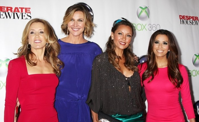 """Felicity Huffman, Brenda Strong, Vanessa Williams and Eva Longoria arrive at the """"Desperate Housewives"""" Series Finale"""
